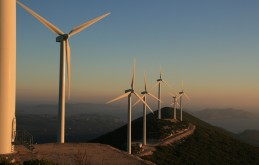SUNSET AT PYLOS WIND PARK